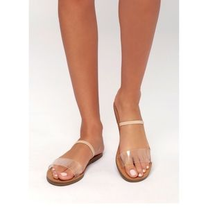Steve Madden Dasha Clear / Nude Slide Sandals